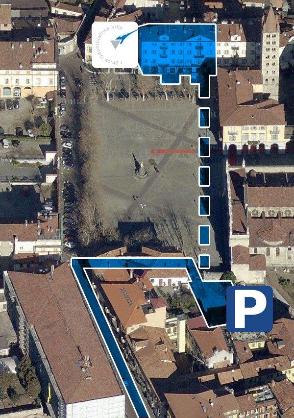 Mappa aerea clinica villa