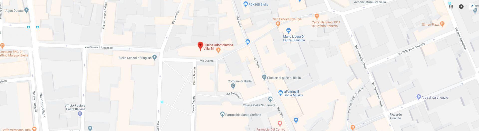 Clinica Odontoiatrica Villa - Dove Siamo